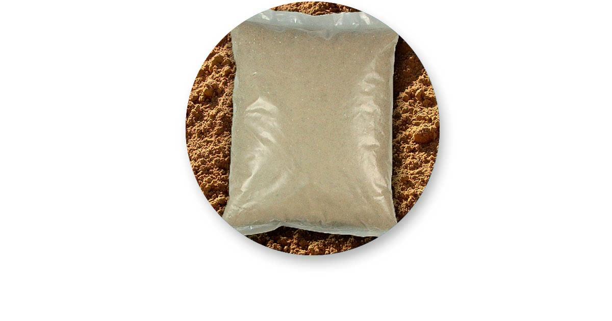 A vez da areia em saca